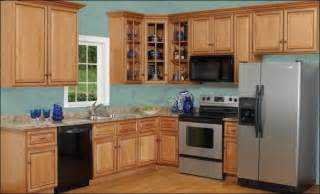 Blue Kitchen With Oak Cabinets by Oak Kitchen Blue Galleryhip Com The Hippest Galleries