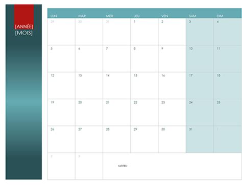 Calendrier Microsoft Office Calendrier Annuel Office Templates