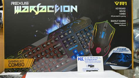 Keyboard Mouse Mousepad Rexus Vr1 Warfaction Original rexus keyboard mouse combo kit warfaction vr1