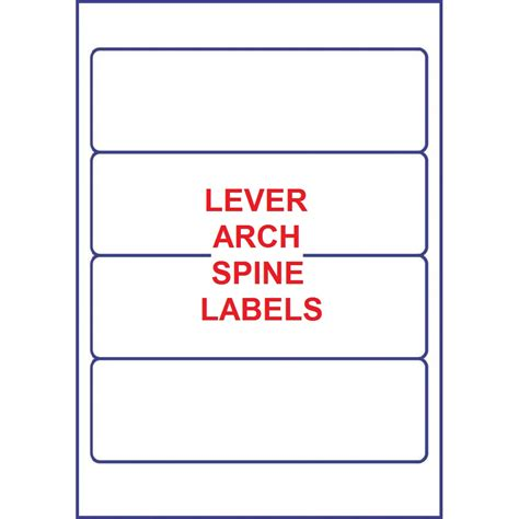 lever arch spine label template 2 popular sles templates