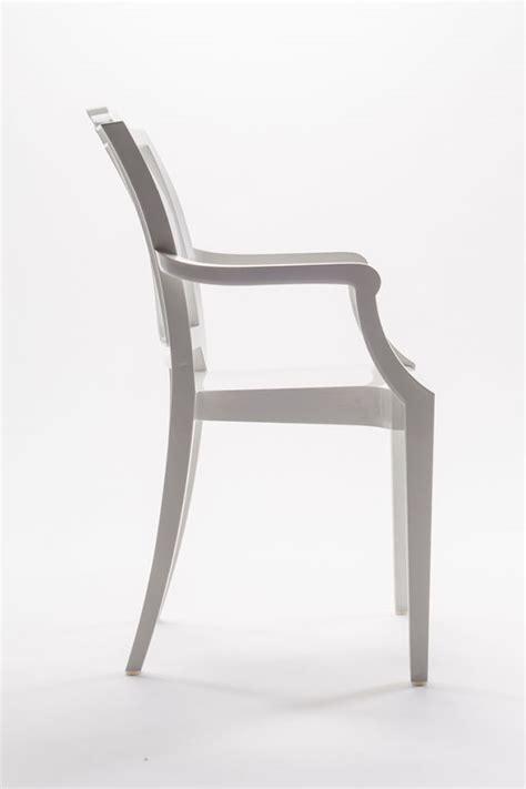 sedie ghost sedia ghost policarbonato con braccioli la16 bianco