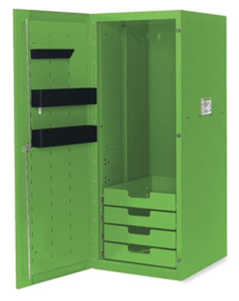 locker 4 drawers 3 shelves green