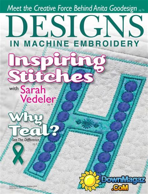 design magazine embroidery designs in machine embroidery usa september october 2015