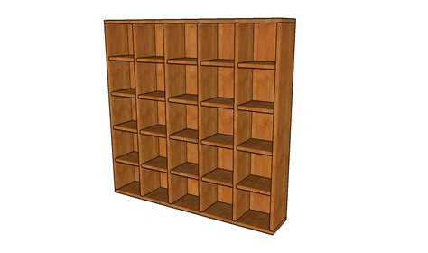 wood bookcase plans howtospecialist how to build step