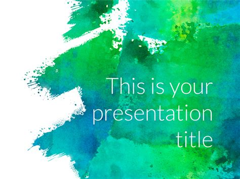 Free Art Powerpoint Template Or Google Slides Theme Slide Template In Powerpoint