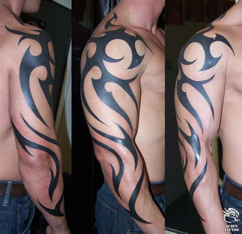 tribal rights tattoo arm images designs
