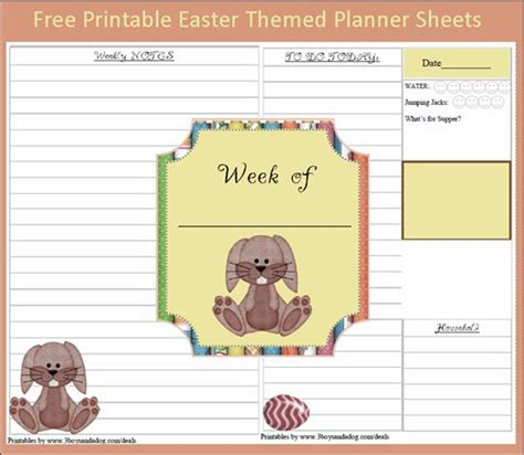 free printable easter planner menu plan monday free printable bunny planner sheets