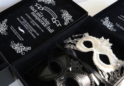 Handmade Masquerade Invitations - an invitation to a black and white masquerade his
