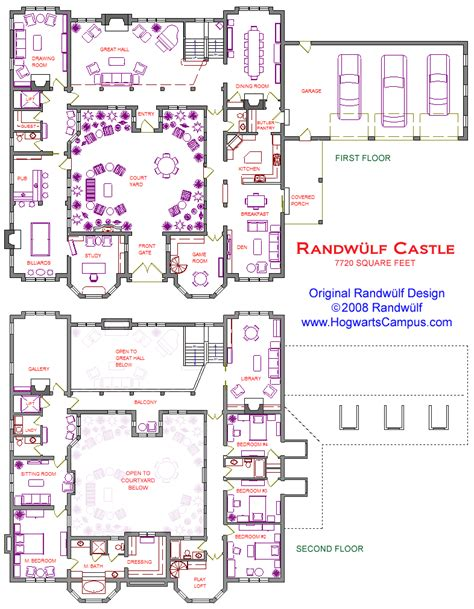 floor plans of castles 2 story castle with courtyard dream house pinterest