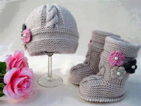knitting pattern for baby hat knit baby hat booties patterns beesdiy com