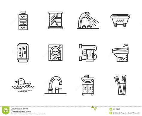 bathroom line bathroom black line icons stock photo image 62933297