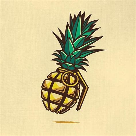 tattoo designe pineapple grenade designe