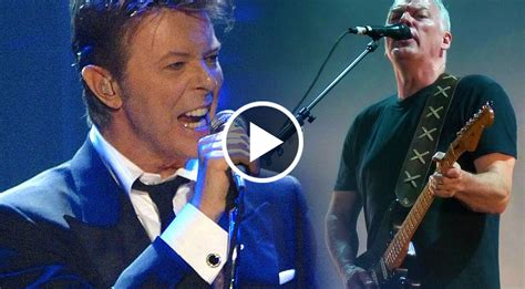 pink floyds david gilmour unites  rock legend david bowie  comfortably numb society