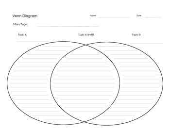venn diagram in subject venn diagram with lines and an easy to read font by two
