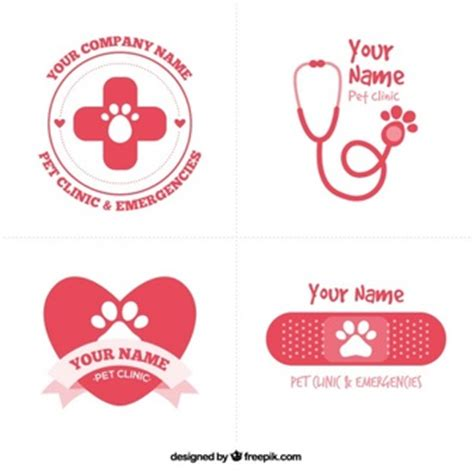 Veterinary Vectors Photos And Psd Files Free Download Veterinarian Badge Template