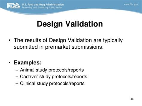 design validation definition fda design control fda requirements