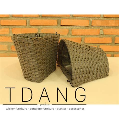 Wicker Wall Planter by Tdang Furniture Half Resin Wicker Wall Basket