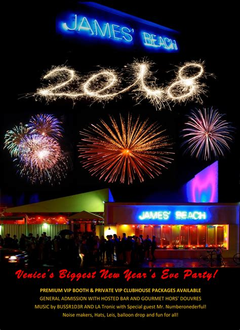 new year 2018 events california james 2018 new year s tickets