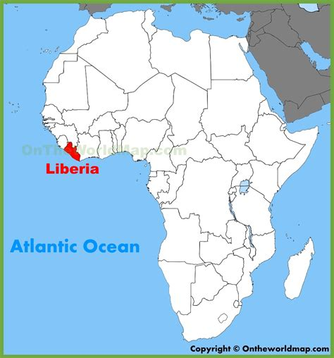 africa map liberia liberia location on the africa map