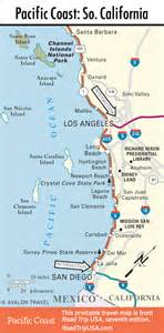 northern california coast map pacific coast route through california road trip usa