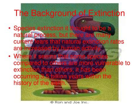 what is background extinction ppt vulnerability to extinction powerpoint presentation