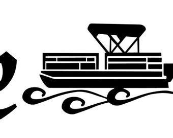 pontoon boat icon pontoon boat etsy
