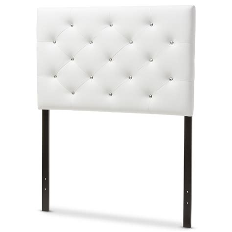 twin headboard measurements baxton studio viviana modern and contemporary white faux