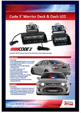 code 3 emergency lights code 3 britax hazard ecco led light bar emergency