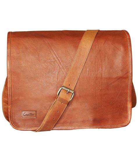 Y 3 Leather Messenger Bag by Goatter Leather Messenger Bag Light Brown Leather