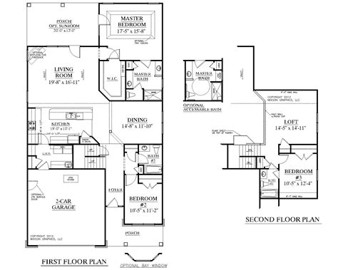 1 and 1 2 story floor plans house plan 2224 kingstree floor plan traditional 1 1 2