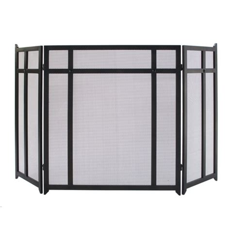 craftsman fireplace screen allen roth craftsman geometric style fireplace screen at