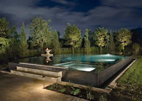pool deck lighting ideas above ground pool decks 40 modern garden swimming pool