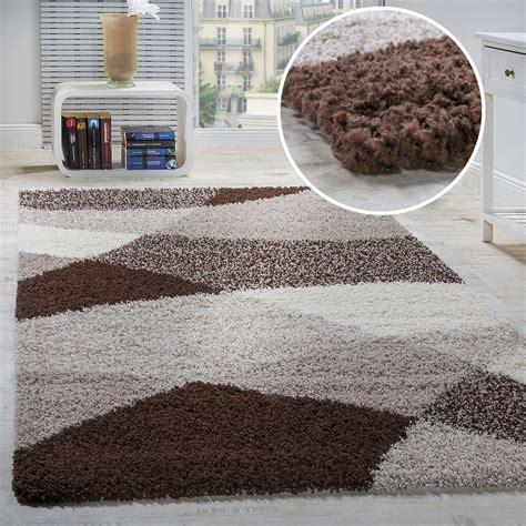 teppiche ebay shaggy teppich hochflor langflor weich geometrisch