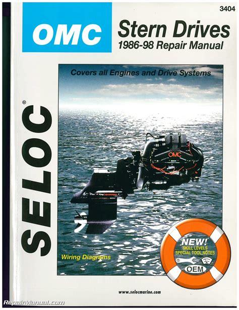 cobra boat engines omc cobra stern drive boat engine repair manual 1986 1998