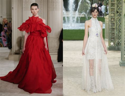 Who Wore Chanel Couture Better Wintour Or by Bee Shaffer In Valentino Couture Wintour In Chanel
