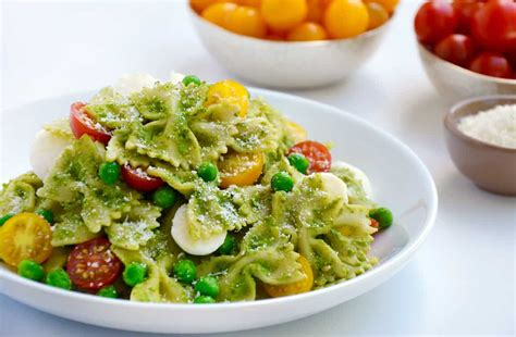 pesto salad pea pesto pasta salad just a taste