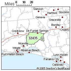 defuniak springs florida map best place to live in defuniak springs zip 32435 florida