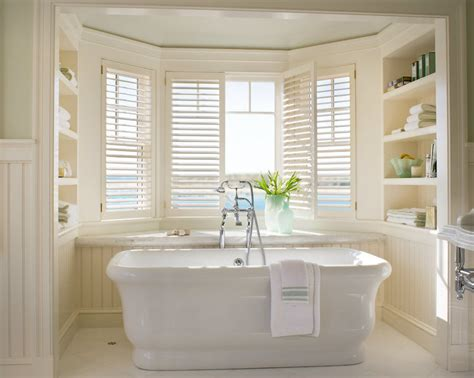 shutters in bathroom plantation shutters cottage bathroom williams spade interior design