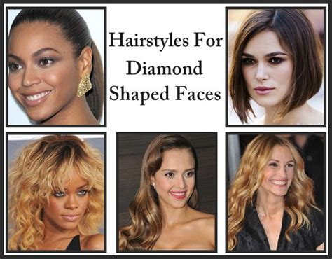 the right hairstyle for your diamond face shape 70 best images about face shape diamond round on
