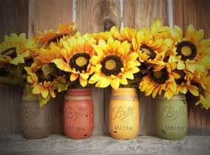 Fall Country Wedding Decoration Ideas - fall mason jars b lovely events