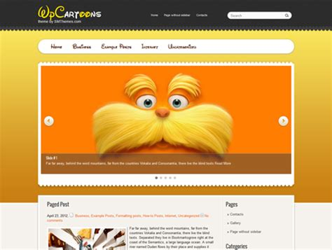 cartoon themes wordpress wpcartoons free wordpress theme