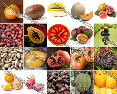 fruit 100 pics 100 pics fruit and nut level 41 60 answers 4 pics 1