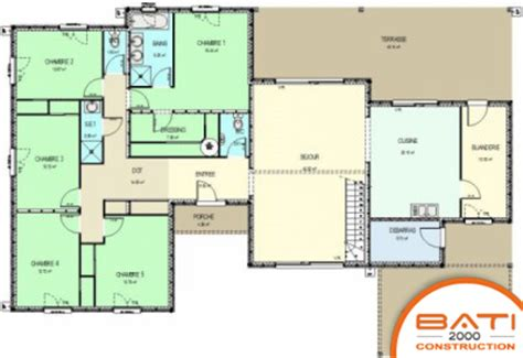 plan de maison plain pied 5 chambres plan de maison 5 chambres plain pied