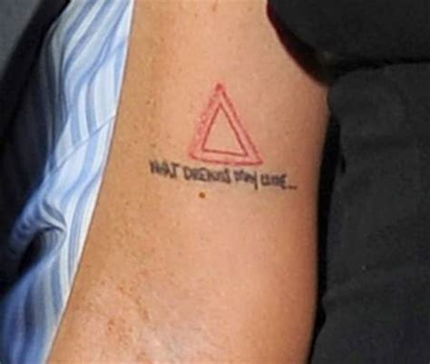 triangle tattoo on arm meaning lindsay lohan explains spiritual meaning behind altered