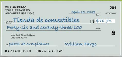 banco of america on line como llenar un cheque de bank of america