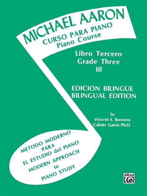 libro curso completo de piano michael aaron curso para piano libro segundo na freenote
