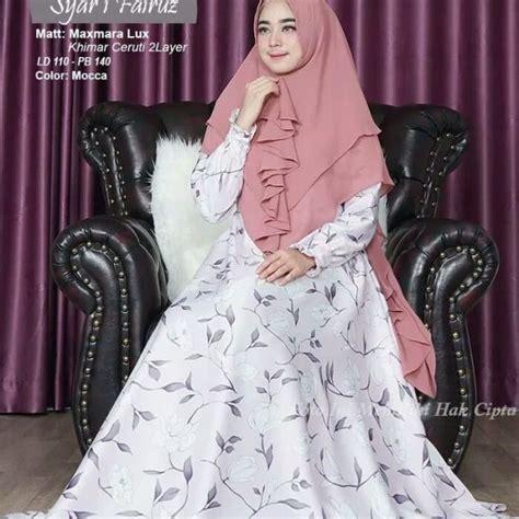 Fairuz Syari gamis syar i fairuz motif bunga model busana sarii