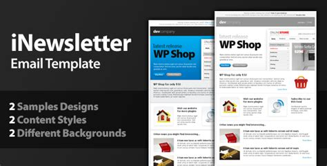 outlook template newsletter top 10 professional email templates designmodo