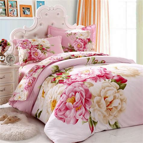 Oriental Style Classical Floral Chinese Peony Bedding Set Flower Bed Set