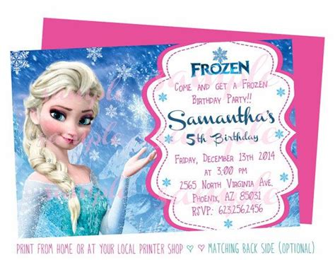 disney frozen birthday invitations printable free evite for disney frozen invitations ideas